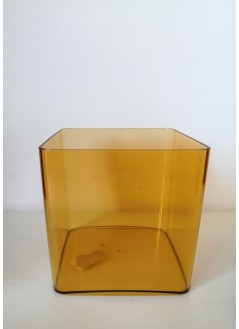 Кашпа за орхидея квадрат медено жълт