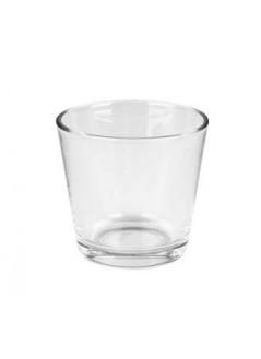 Стъклена кашпа 7.5см прозрачна