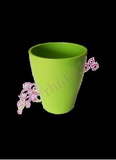 Керамична кашпа зелена