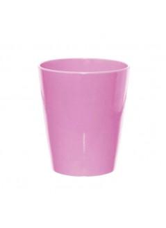 Керамична кашпа - розова, 13см