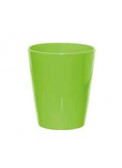 Керамична кашпа - зелена, 13см