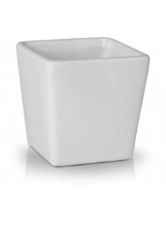 Керамична кашпа 8.5cм бяла