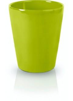 Керамична кашпа 13см зелена