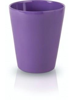 Керамична кашпа 13см лилава