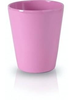 Керамична кашпа 13см розова