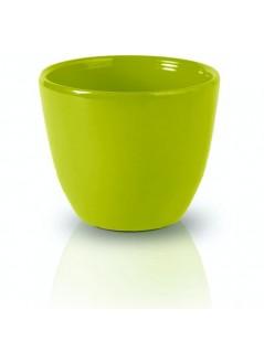 Керамична кашпа 7см зелена