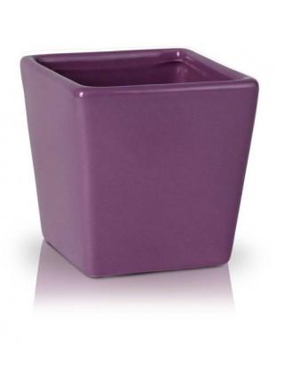 Керамична кашпа 8.5cм лилава