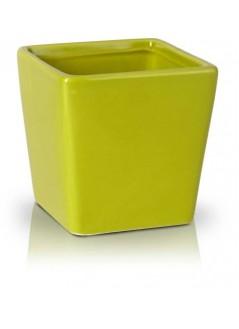 Керамична кашпа 8.5cм зелена