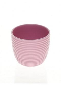 Керамична кашпа 10см розова