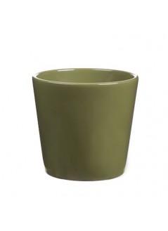 Керамична кашпа DD 13.5 Зелена