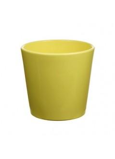 Керамична кашпа DD 13.5 Жълта