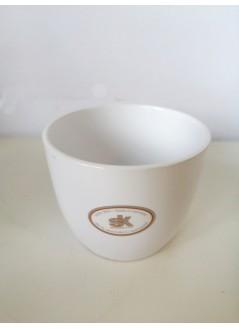 Керамична кашпа 9.5cм бяла
