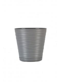 Саксия със стилен дизайн, сива